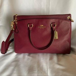 Coach Maroon Satchel/Crossbody Handbag